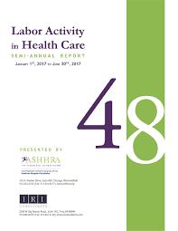 ASHHRA 48th Labor Activity in Health Care Report Cover